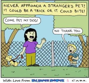 A stranger has a pet