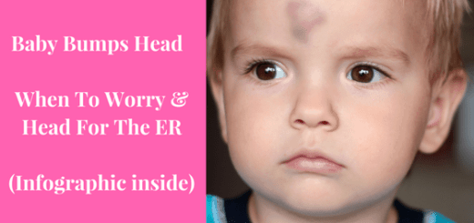 Baby Bumps Head - When To Worry & Head For The ER (+ Infographic)